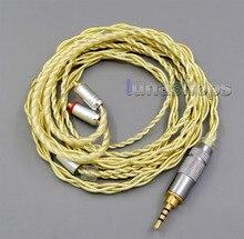 2.5mm extrêmement doux 7N OCC argent pur + plaqué or câble pour Shure se535 se846 se425 se215 MMCX LN005948