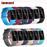 honecumi sport bands for fitbit charge 34 band tpu smart watch strap small large accessories wristband for fitbit charge 3