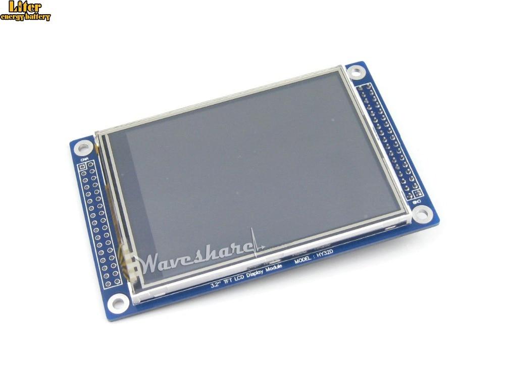 "10 unids/lote 3,2 pulgadas 320x240 pantalla LCD táctil (C) 3,2 ""Pantalla TFT módulo ILI9325... XPT2046 controlador SPI táctil LCD gráfica retroiluminación LED"