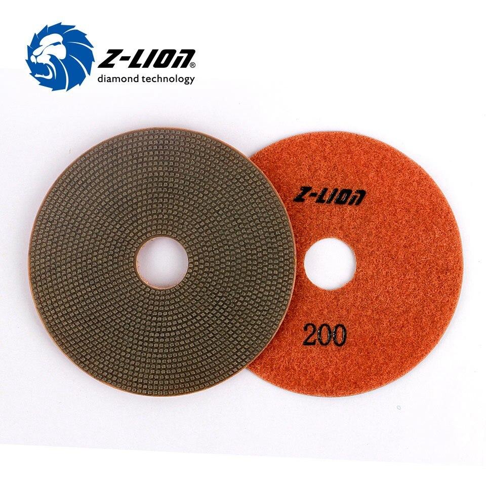 Z-LION 4 ''1 Stück Galvani Diamant Polieren Pads 100mm Weiche Sharp Schleifen Disc Nassen Einsatz Für Beton Granit marmor Glas