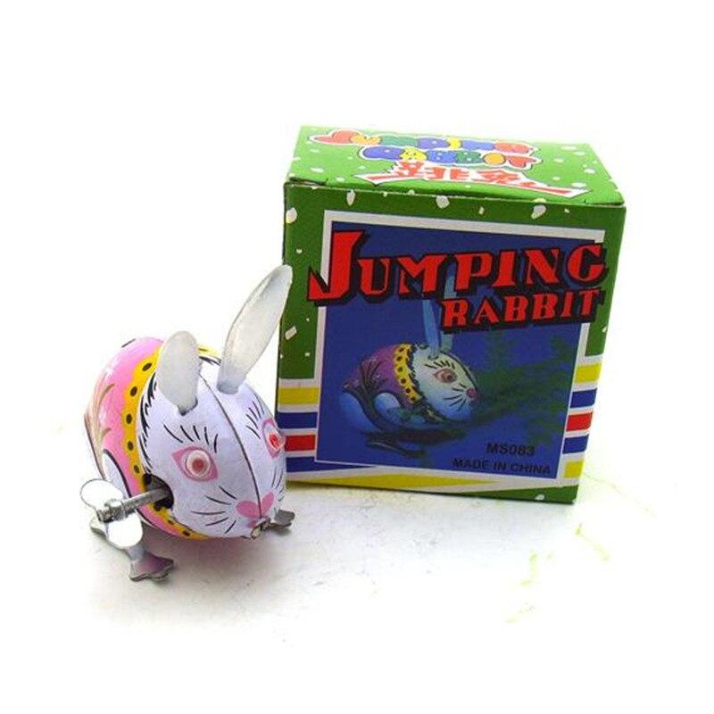 Conejo saltarín clásico Vintage cuerda arriba juguetes Fotografía niños adultos coleccionable estaño cuerda arriba juguetes regalos