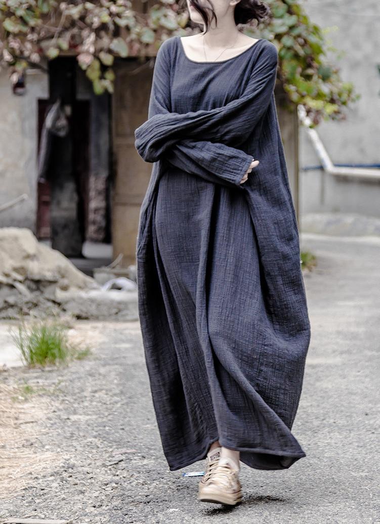 Vestidos mujer, Новинка осени 2016, однотонные хлопковые льняные халаты, платье для женщин, повседневные, большие размеры, 2016, etnico ropa mujer