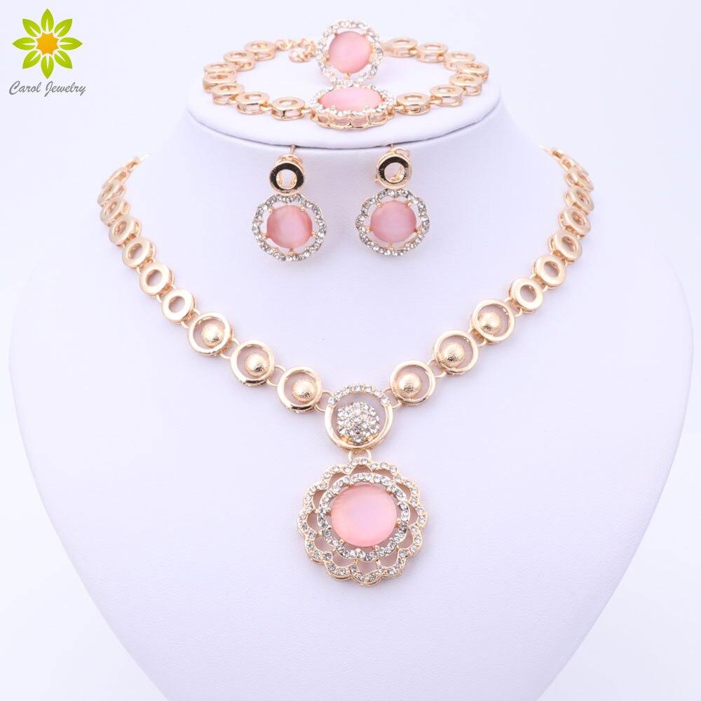 2020 clássico laranja rosa branco nigeriano africano contas conjunto de jóias festa casamento vestido moda jóias para as meninas femininas