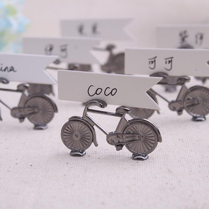 Свадебные украшения ремесла металлический велосипед именная карточка Свадебные украшения вечерние визитная карточка металлическая кассета свадебные сувениры и подарки