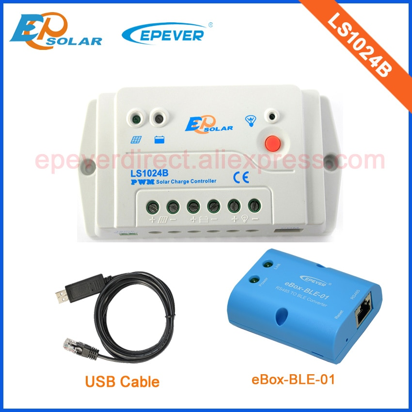 solar 24 v carregador de bateria paineis ep serie controlador ls1024b 10a 10 amperes