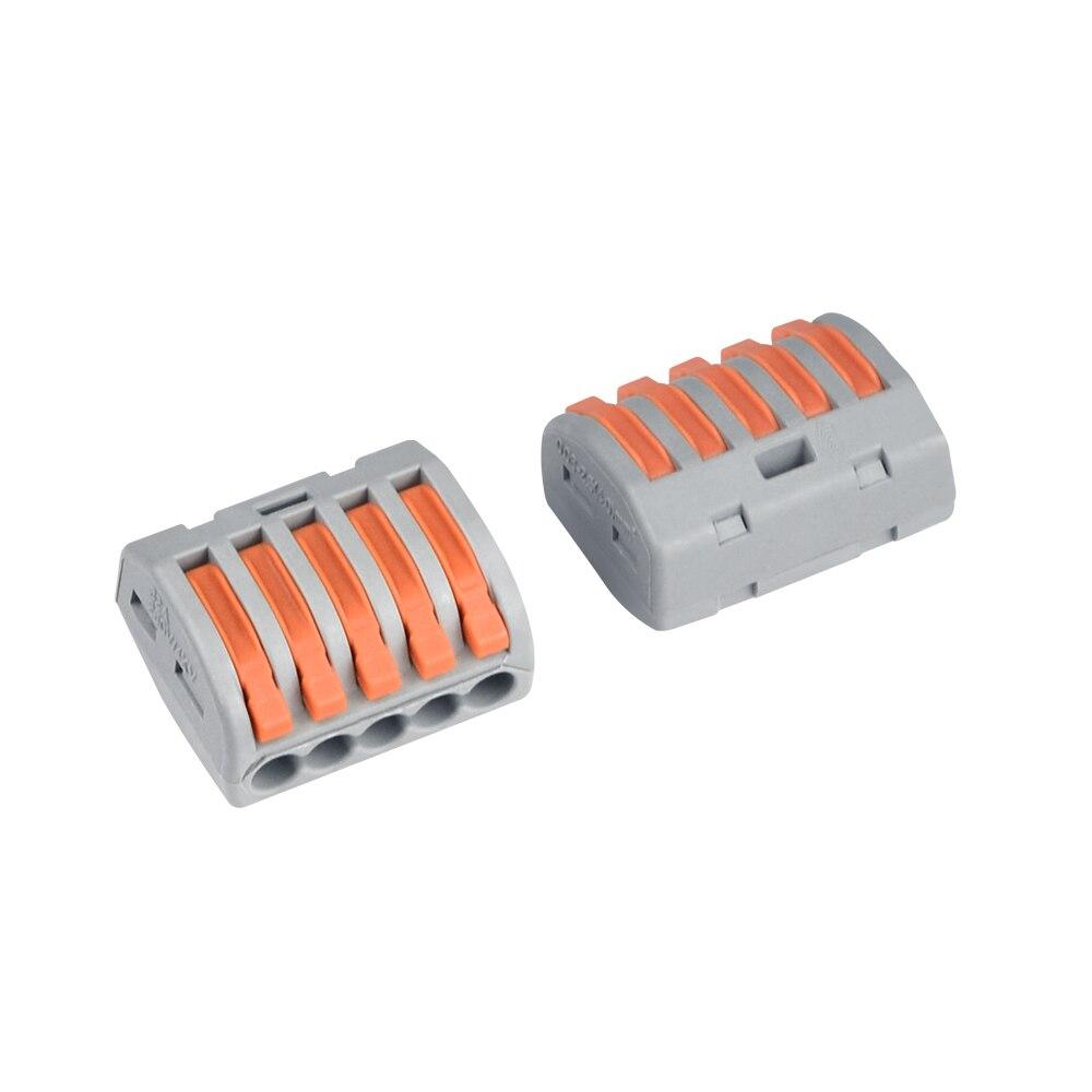 PCT-212 213 214 215 mini conector de fiação condutor bloco terminal universal compacto push-in conectores de fio cabo elétrico