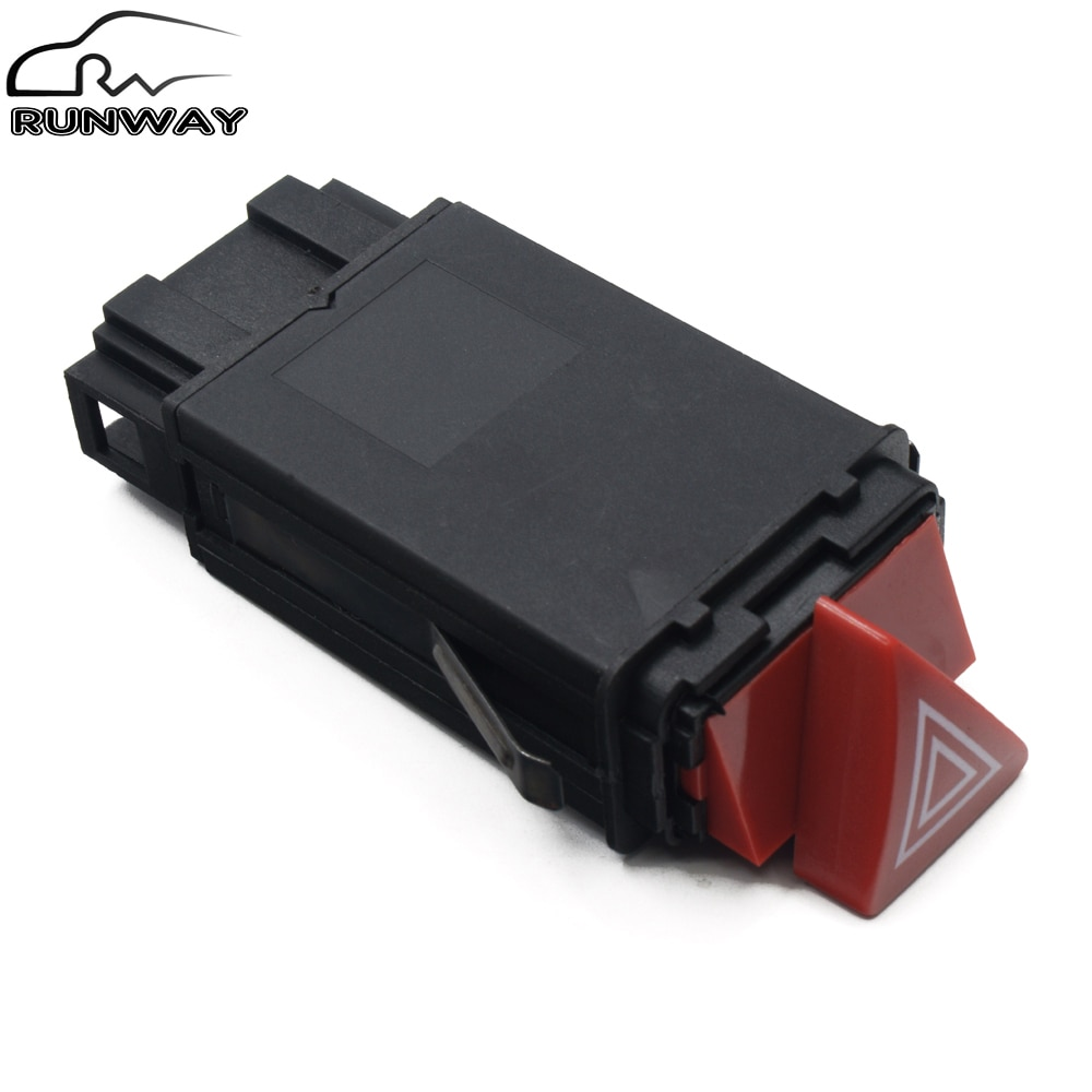 Botón de tablero del interruptor de la lámpara de peligro principal de la pieza del coche para AUDI A3 A4 B5 A6 C6 Allroad OE 8D0 941 509 H 8D0 941 509 H