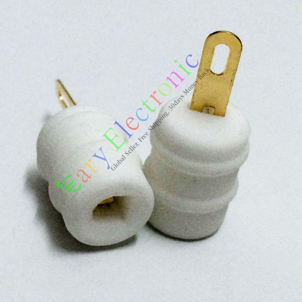¡Venta al por mayor y al por menor! 50 unidades de tapa de ánodo de tubo de cerámica dorado para FU29 FU32 829 829B 823 amplificador de válvula de Audio DIY envío gratis