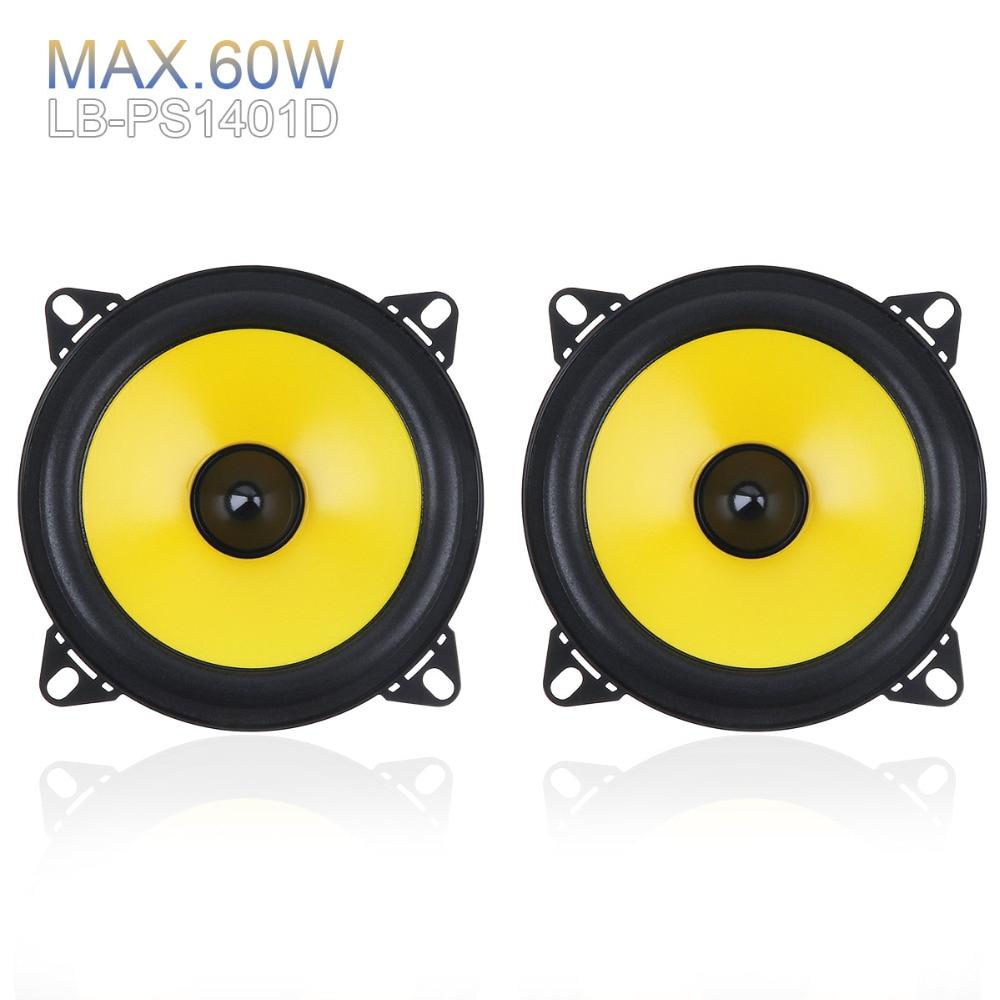 2pcs/lot 4 inch 60W 2-Way Car Speaker Full Range Frequency Auto Stereo Audio Loud Speaker Automotive Automobile Loudspeaker