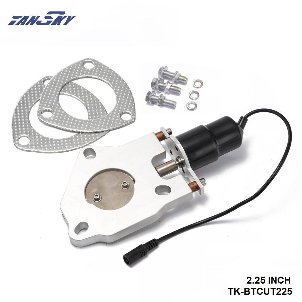 "2.25"" Electric Exhaust Cutout Remote Control Motor Kit For GM Chevy Chevrolet CAMARO/FIREBIRD 67-69 TK-BTCUT225"