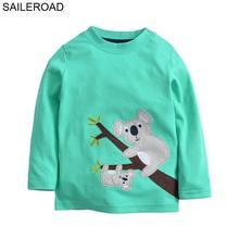 SAILEROAD Cartoon Animal Koala Pattern Baby Kids Boys Long Sleeve T-Shirts For 2-7Years Spring Autumn Children Clothes Cotton
