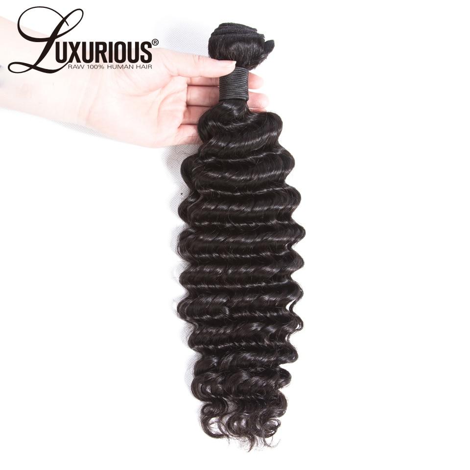 100% de cabello brasileño de onda profunda mechones de cabello humano extensión de cabello Remy doble trama 8-30 pulgadas Color Natural puede comprar 3 o 4 mechones