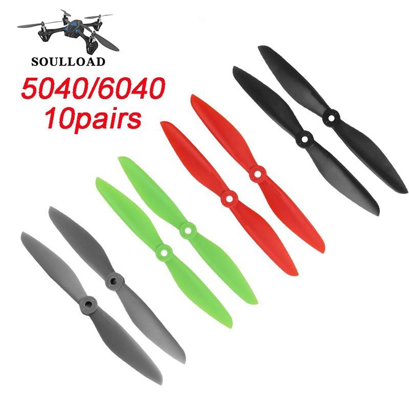 10 пар 5040/6040 CW CCW 4 вида цветов пропеллеры реквизит для RC FPV Quadcopter multi-вертолет