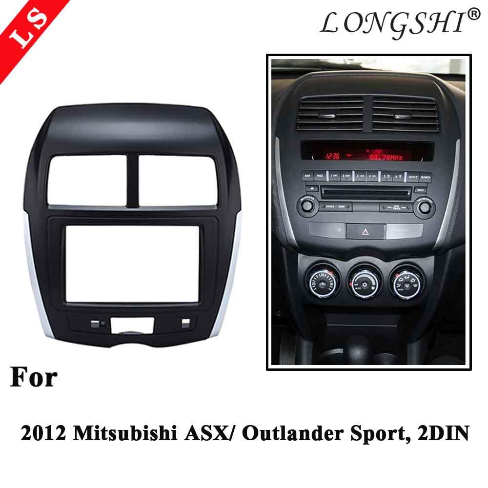 2DIN Car Radio Fascia for 2012 Mitsubishi ASX Outlander Spor RVR Stereo Facia Dash CD Trim Installation Kit Frame Double Din