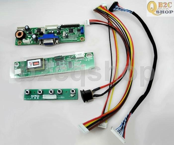 Placa de controlador lcd kit diy vga (rtd2270l) driver inversor lvds conversor para 1024x768 NL10276BC20-18