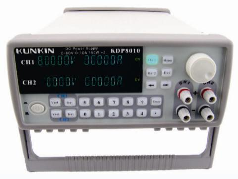 Llegada rápida KDP8010 80 V/10A/150 W * 2 Doble Canal programa-fuente de alimentación controlada