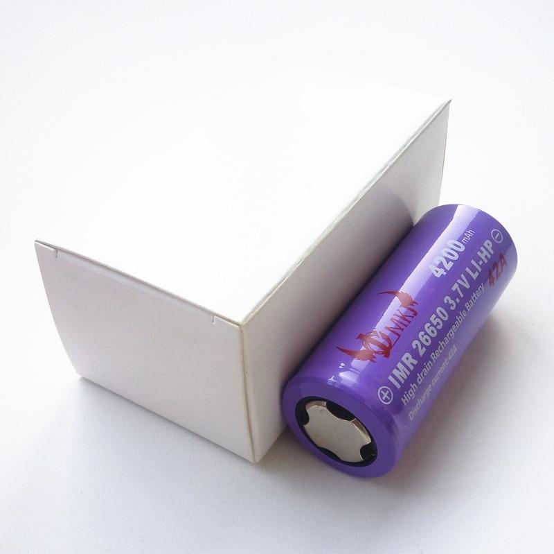 26650 42A 4200mAh Li-ion ion de litio J.C.M IMR 3,7 v 3,6 V batería recargable para fuente de alimentación