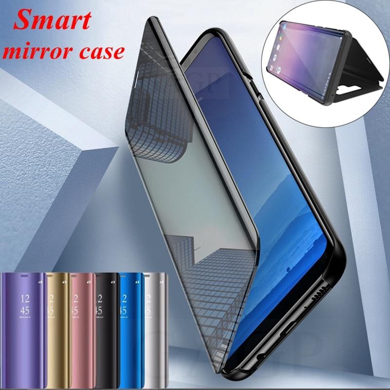 Vista Flip funda para Samsung Galaxy Nota 9 S9 S8 plus espejo cubierta inteligente para Samsung Nota 8 5 Galaxy S7 borde S6 borde estuches de maquillaje