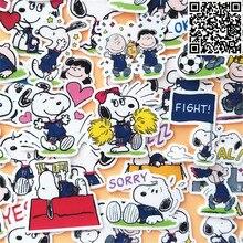 40 pcs Cartoon cute puppy Sticker for Luggage Skateboard Phone Laptop Moto Bicycle Wall Guitar/Eason Stickers/DIY Scrapbooking