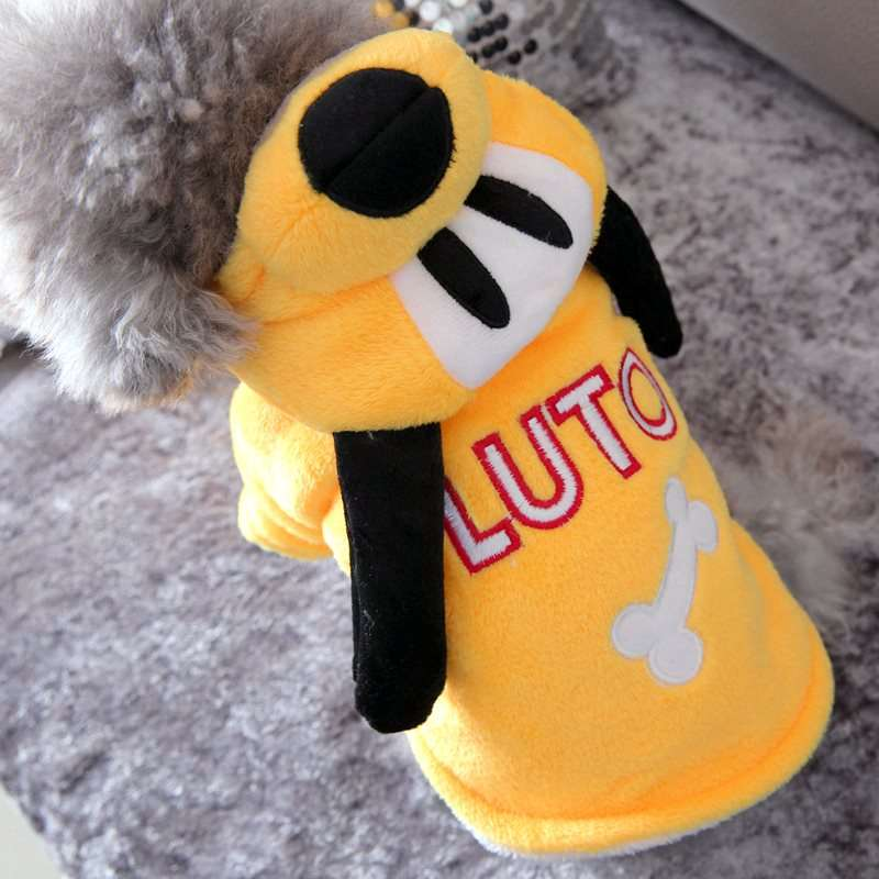 Yellow Cute Golden Retriever Dog Clothes Winter Fleece Soft Comfort Warm Pet Big Large Animal Costumes For Labrador Chihuahua