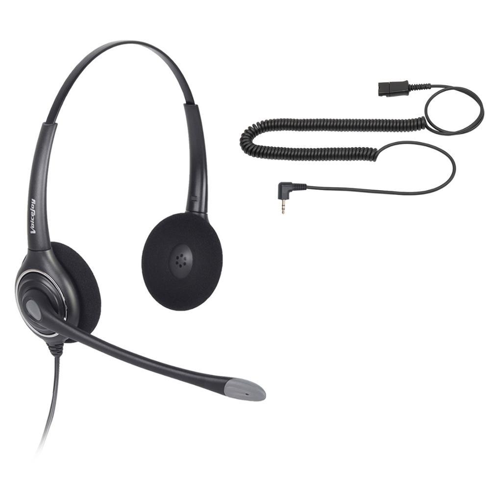 Home/Büro Headset für Polycom IP 320, IP 330, IP321, IP331, C isco SPA, AT & T, VTech und Alle handys mit einem 2,5mm Headset Port