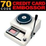Guranatee, 100%, novedad, 70 charaters de código, máquina de estampado de tarjetas de identificación de PVC, 70 letras, Manual, máquina de estampado de tarjetas de plástico