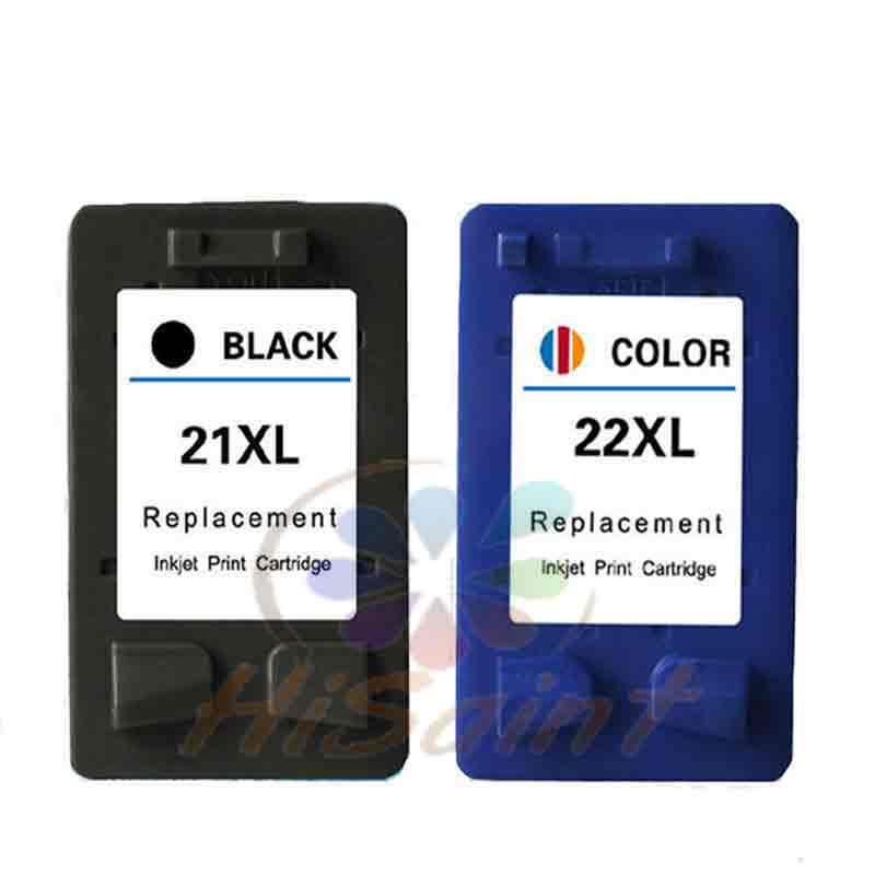 Hisaint 1 set für HP 21 22 tinte patrone 21xl 22xl C9351A C9352A verwendet für DeskJet 3910 3915 3930 V 3940 drucker Kostenloser versand