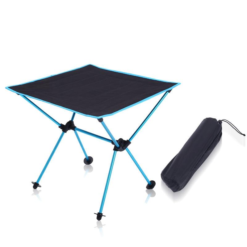 Портативный Легкий напольный стол кемпинг стол 7075 Алюминиевый сплав для пикника барбекю складной Тавель стол на открытом воздухе портатив...