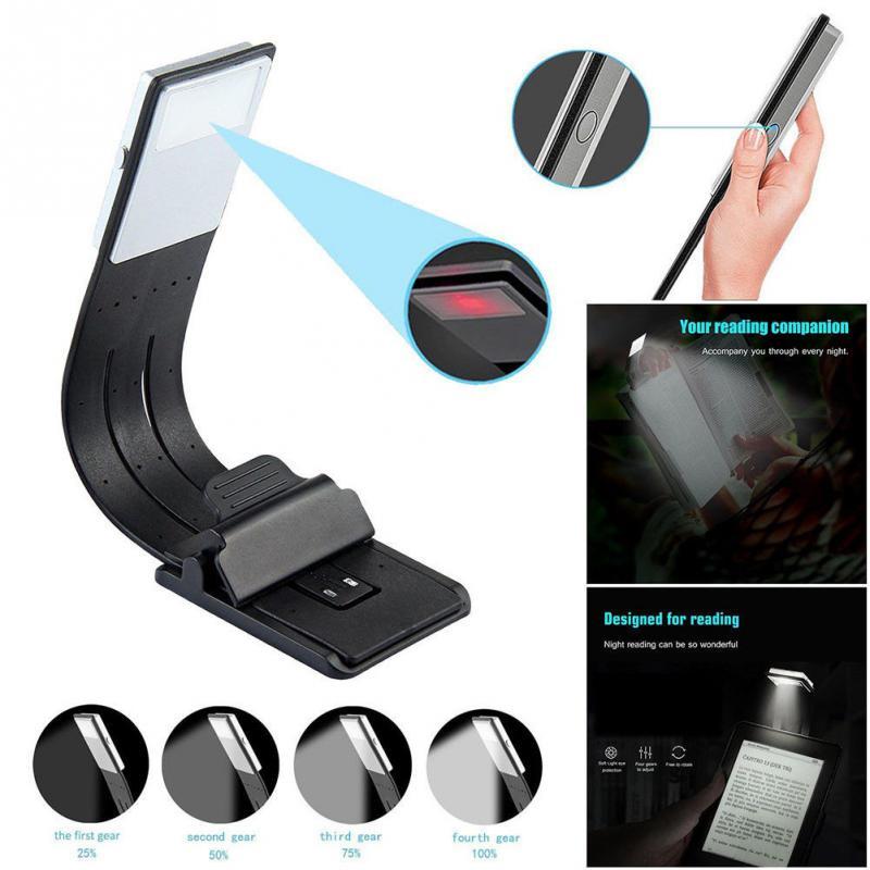 Nuevo brillo Flexible recargable ajustable Flexible con/sin Clip lámpara de diseño luz LED de libro lectura nocturna portátil
