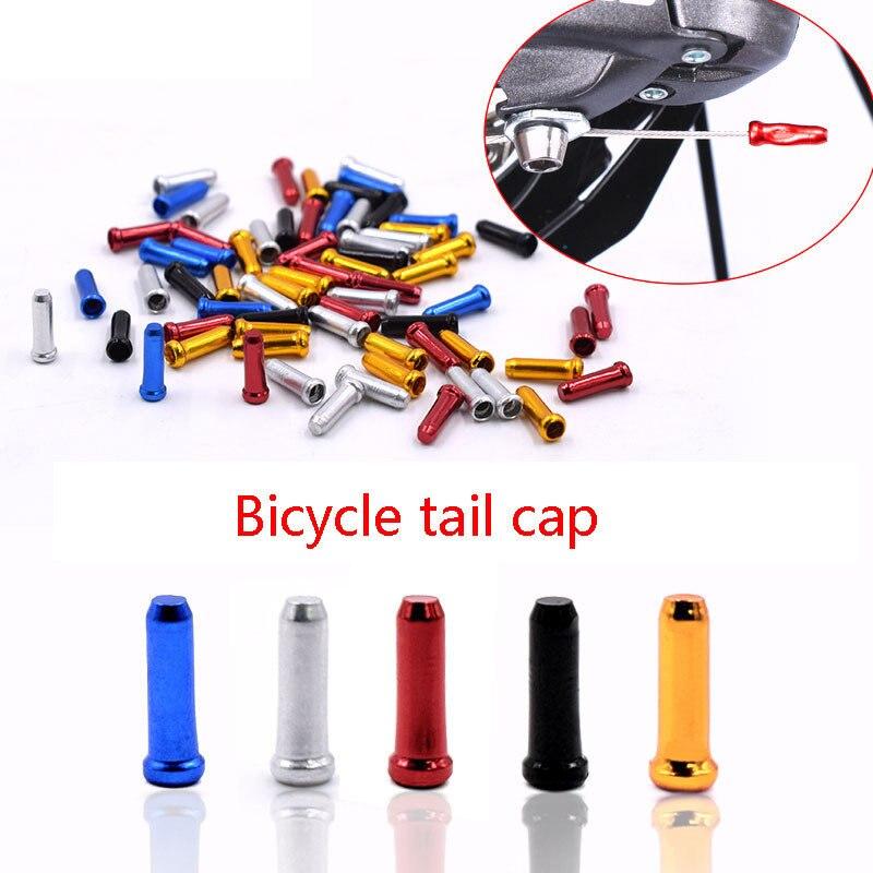 Alta qualidade acessórios da bicicleta linha de freio cauda da bicicleta engrenagem velocidade capa tampa alumínio desviador liga cor da bicicleta ferramenta 6