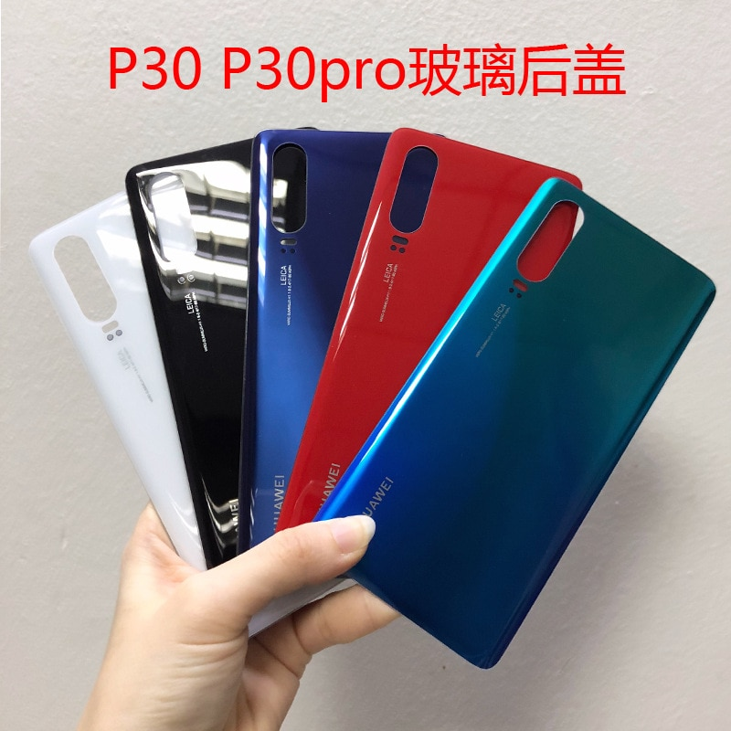 for huawei P30 Glass Battery Cover Battery Cover Back Glass Rear Door Housing Case for HuaweiP30 Pro VOG-L04 6.47