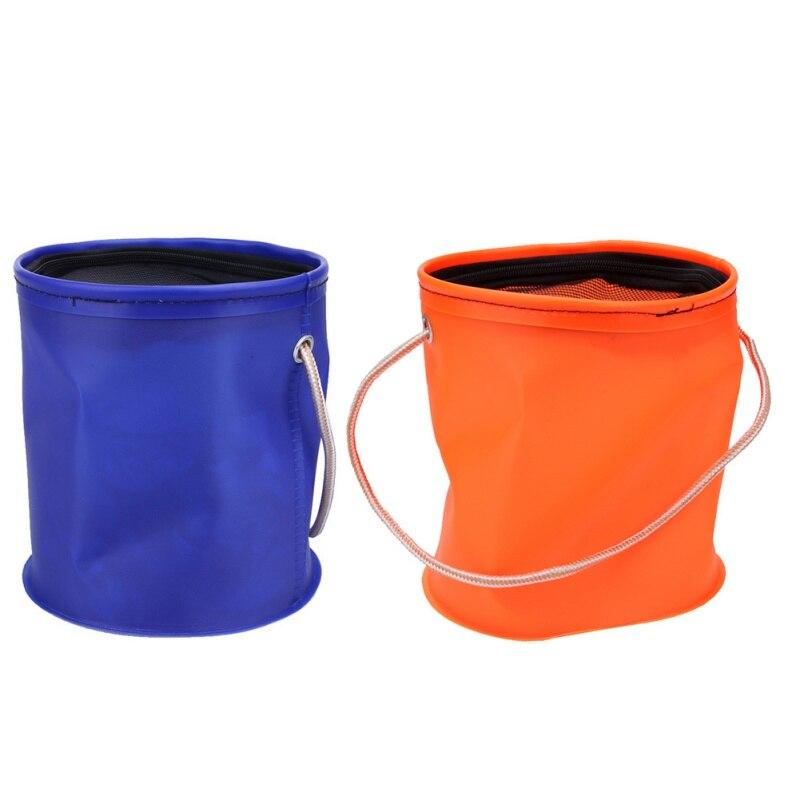 Outdoor EVA Bucket Canvas Bucket Folding Bucket Portable Camping Hiking Fishing Bucket Fishing Tackle Tools 2 Colors