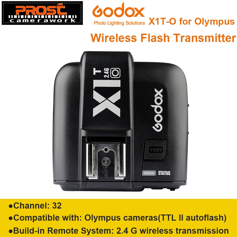 Chegada nova Godox X1T X1T-O 2.4G Transmissor Sem Fio Speedlite Flash Gatilho para Olympus Panasonic Câmeras