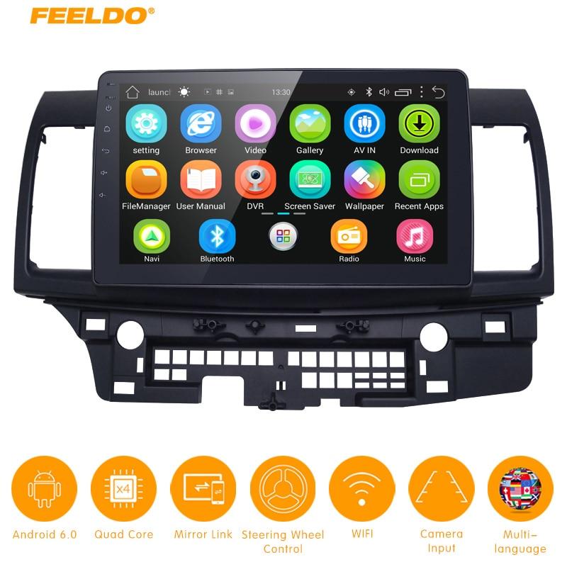 "FEELDO 10,2 pulgadas Android 6,0 de 10,2 ""Quad Core reproductor multimedia para coche con GPS Navi Radio para Mitsubishi Lancer EX(2007-presente #5269"