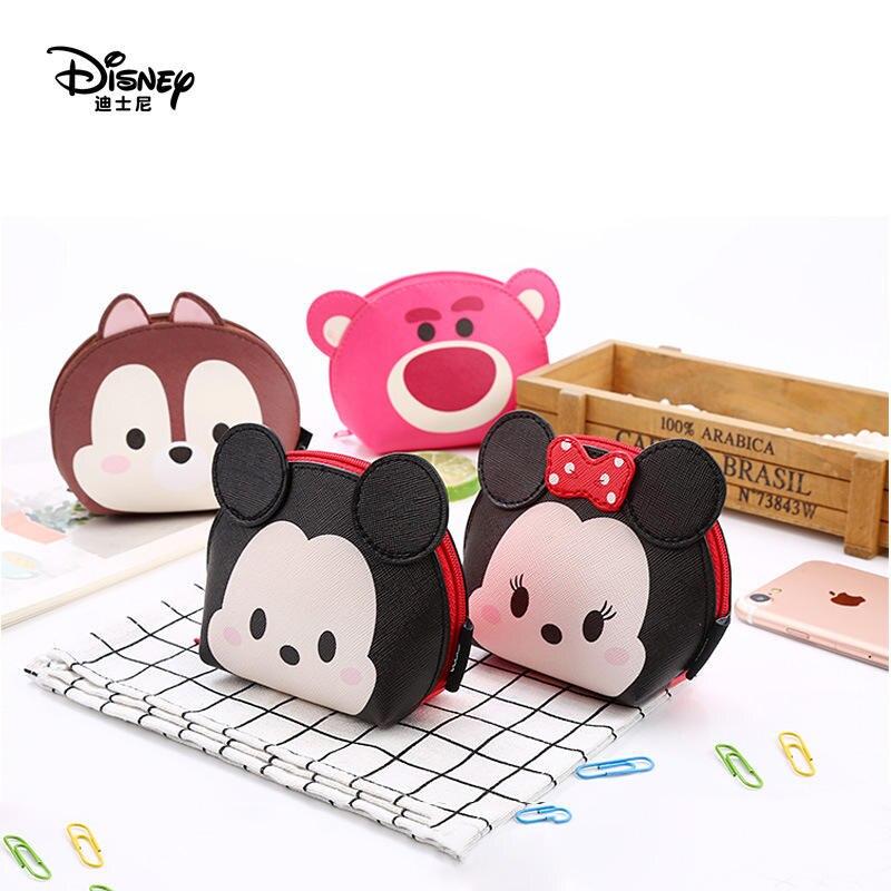 Accesorios de muñeca para niños de Disney bolsa de cosméticos multifuncional bolsa de almacenamiento monedero de dibujos animados para niñas