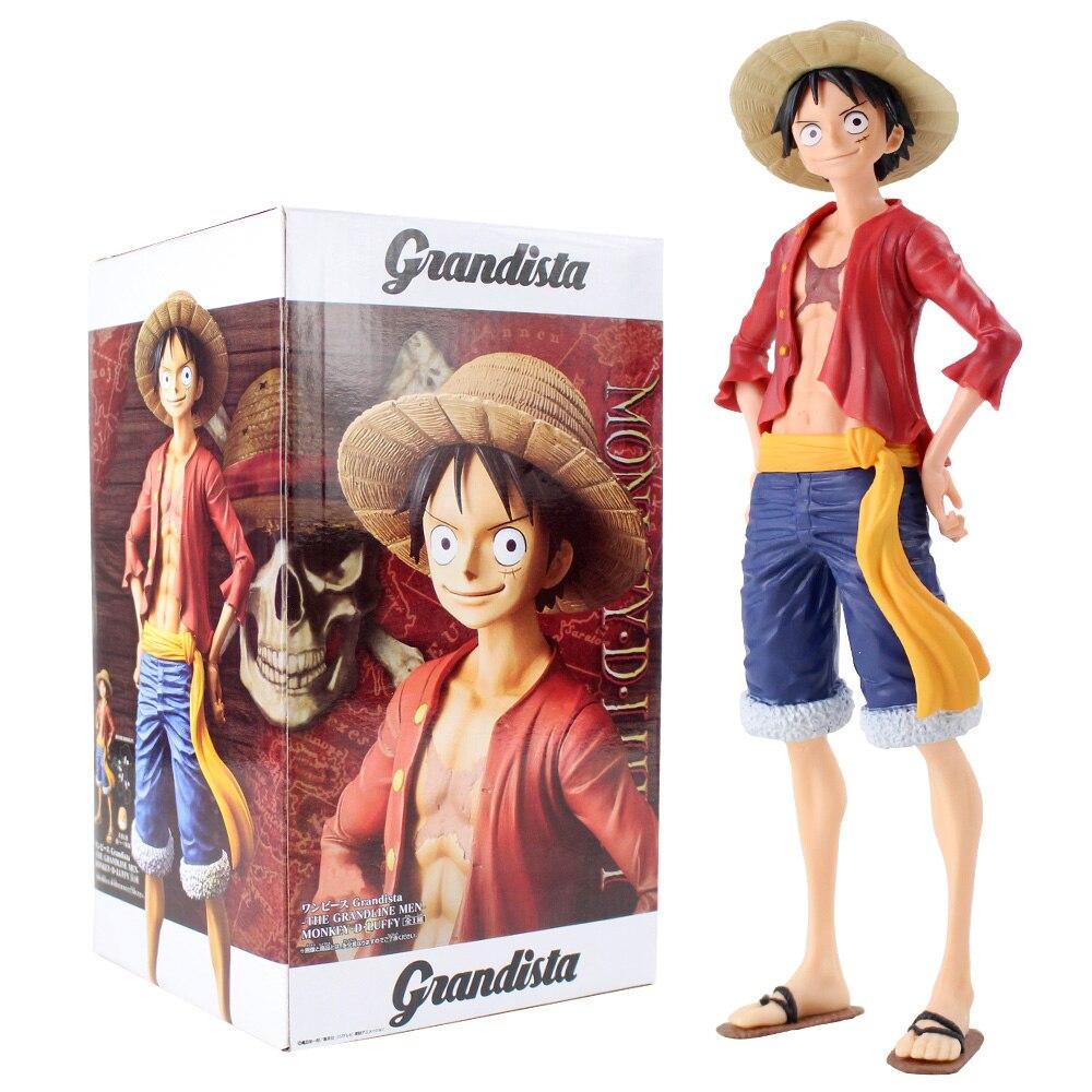 27cm Grandista una pieza mono D figura de Luffy juguete Grandline hombres Luffy Anime muñecas coleccionables en miniatura