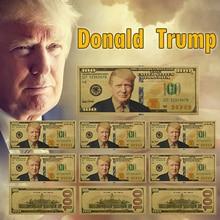 Trump-faux argent plaqué or   10 pièces, Unique amérique un Million, billet de monnaie en papier, monnaie daffaires, cadeaux pour noël