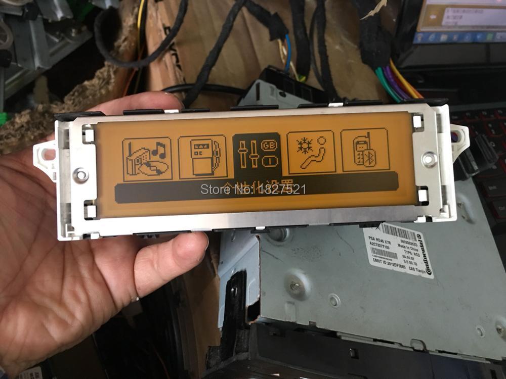 Желтый экран оригинальный USB Dual-zone air Bluetooth дисплей, монитор 12 pin для Peugeot 307 407 408 citroen C4 C5