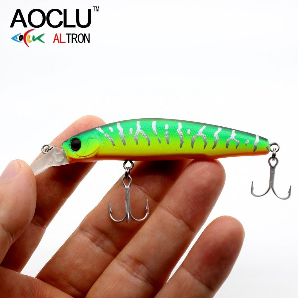 AOCLU wobblers Jerkbait 5 Colors 85mm 6.5g Hard Bait Minnow Crank Fishing lures Bass Fresh Salt water VMC hooks free shipping