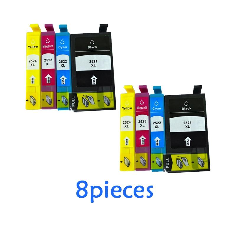 T2521 чернильный картридж T2521 для epson рабочей силы WF-3620 WF-3640 WF-7610 WF7620 7110 3620 3640 7610 7620 полный картридж с чернилами для принтера