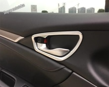 Lapetus Inner Car Door Pull Handel Bowl Frame Cover Trim Kit 4 Piece Fit For Honda Civic Sedan 2016 - 2020 ABS Matte Interior