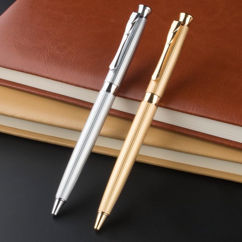 Роскошная шариковая ручка, металлическая шариковая ручка для письма 0,5 мм, заправка, подарок, канцелярские принадлежности, офисные и школьн...