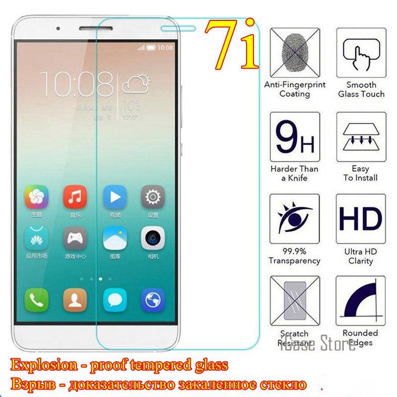 Vidrio templado para Huawei Shot X Honor 7i 7 I película protectora...