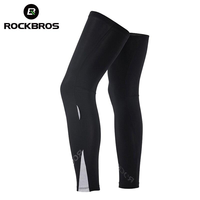 Leggings ROCKBROS para ciclismo, calentadores de piernas, protección solar UV para bicicleta, Leggings transpirables, rodillera deportiva de seguridad, Protector
