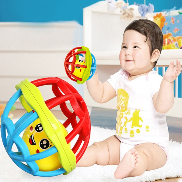 Baby Toy Fun Little Loud Jingle Ball Ring Develop Baby Intelligence,Training Grasping Ability Rattles Baby Toys 0-12 Months