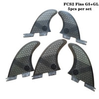 FCSII G5+GL Surfboard Blue/Black/Red/Green color Honeycomb Fins tri-quad fin set FCS 2 Fin Hot Sell FCS II Fin Quilhas