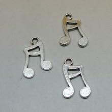 50 pcs Vintage argenté musique symbole opérateur pendentif à breloques pour la Fabrication De Bijoux bricolage Fait Main bijoux accessories17x11mmm