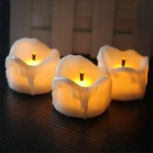 Yanıp sönen Pil Adak Mumlar, 6 veya 12 adet, Sıcak Beyaz led kerzen, küçük bougie led flamme vacillante, Romantik Mumlar