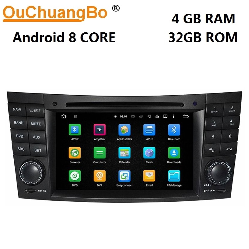 Ouchuangbo автомобильный аудио для Mercedes Benz E W211 CLK W209 CLS W219 с PX5 android 9,0 gps Навигация dvd Радио 8 ядер 4 Гб + 64 ГБ