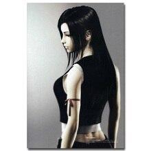 Final Fantasy VII Arte Tecido de Seda Cartaz Impressão 13x20 24x36 polegadas Vedio Jogo Tifa Lockhart Fotos para Sala de estar Decoração Da Parede 019